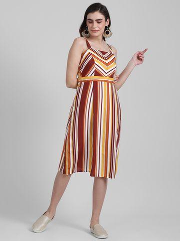 Zink London | Zink London Women's Multi Printed A-Line Dress