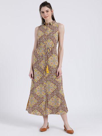 Zink London   Zink London Women's Printed Maxi Dress