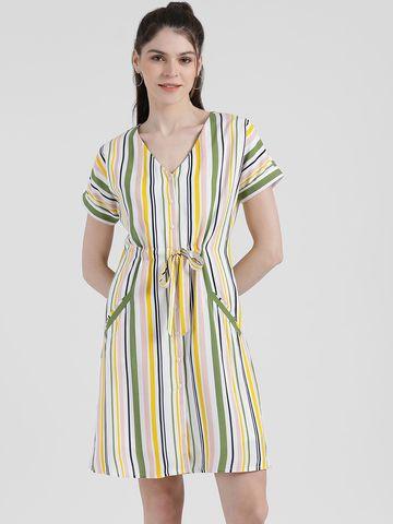 Zink London | Zink London Women's Striped Sheath Dress