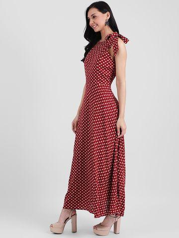 Zink London | Zink London Maroon Printed Maxi Dress