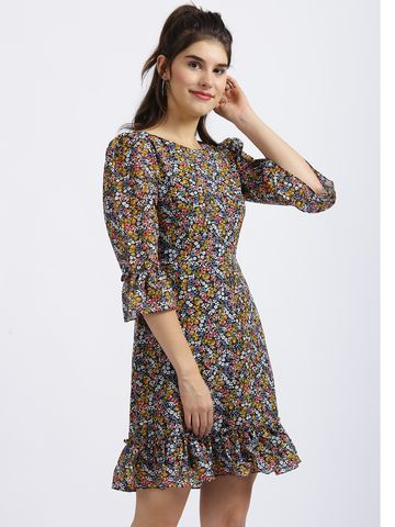 Zink London | Zink London Multi Floral Print Sheath Dress