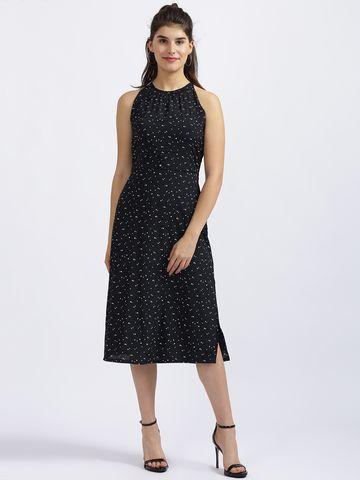 Zink London | Zink London Black Printed Sheath Dress