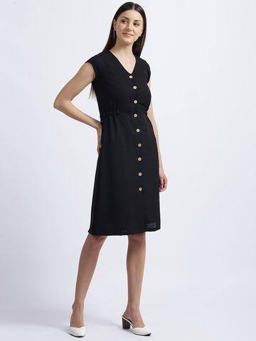Zink London | Zink London Black Solid Shirt Dress