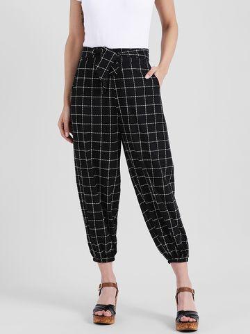 Zink London | Zink London Black Checked Regular Trousers