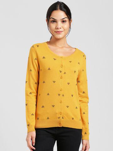 Zink London | Zink London Yellow Cardigans for Women