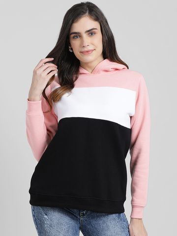 Zink London | Zink London Women's Colourblocked Hooded Sweatshirt