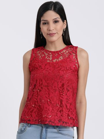 Zink London | Zink London Red Blouson Top for Women