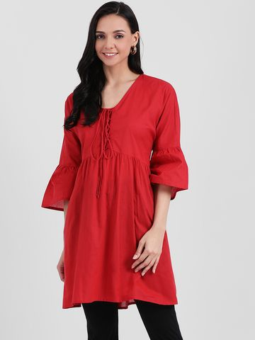 Zink London | Zink London Red Solid Tunic