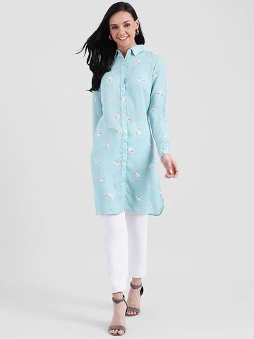 Zink London | Zink London Sea Green Printed Tunic