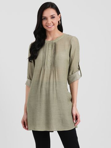 Zink London | Zink London Green Solid Tunic