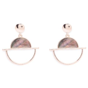 globus | Globus Rose Gold Long Earring