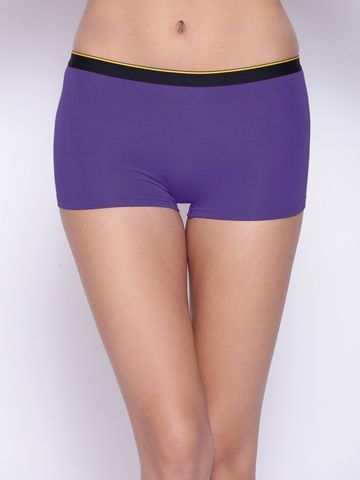 Bummer | Bummer Funktown Purple Micro Modal Boy Short For Women
